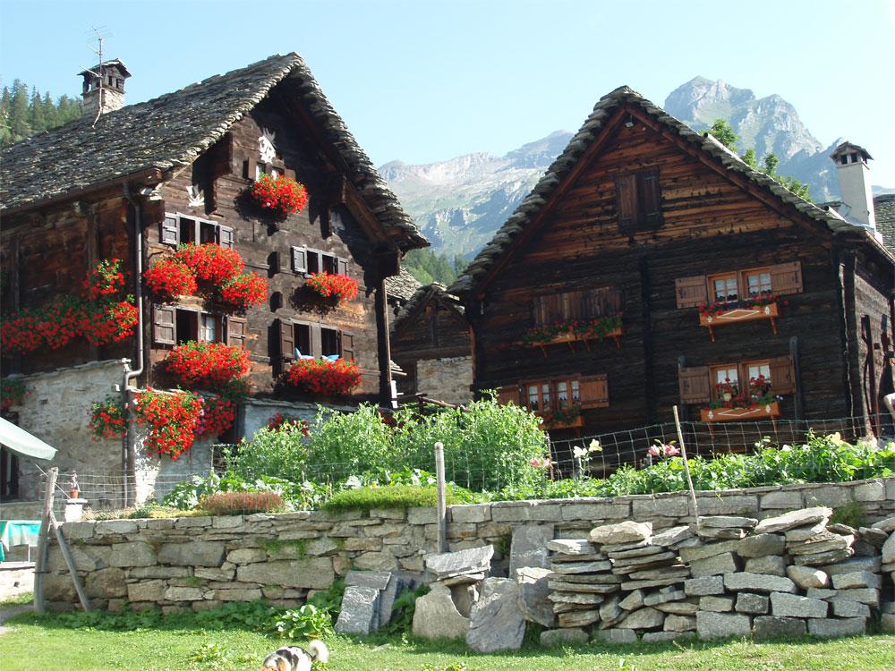 I walser delle alpi occidentali for Le piu belle baite in montagna