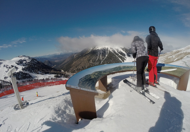 Punto panoramico nel comprensorio Ski Center Latemar