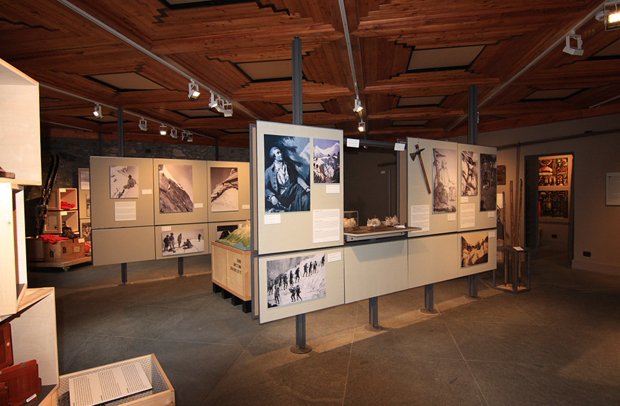All'interno del Museo delle Guide Alpine Courmayeur